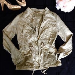 Max Jeans Utility Jacket Sunwashed Soft Green XS